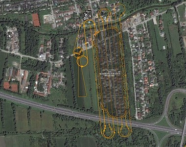 Monitoring the space utilisation in Ljubljana using a small drone