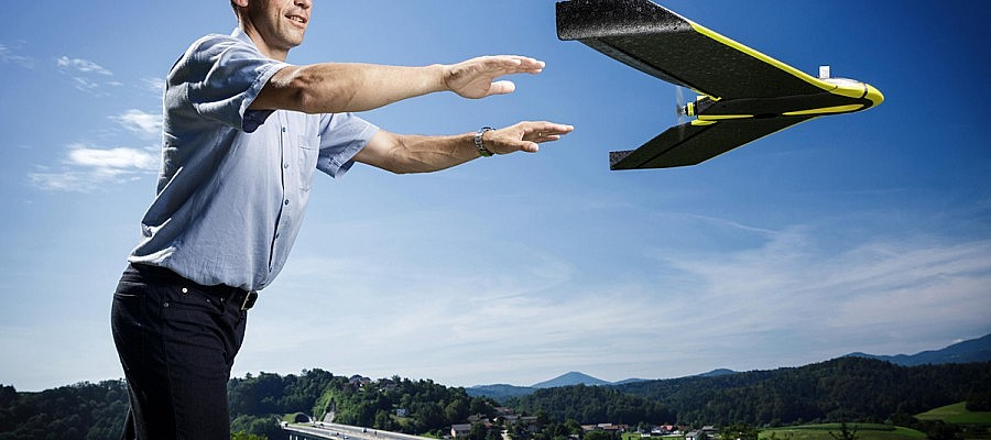 What are the capacities of senseFly eBee unmanned aerial vehicle?