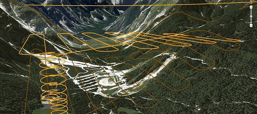 Kako izvedemo aerofotografiranje hribovitih področij?