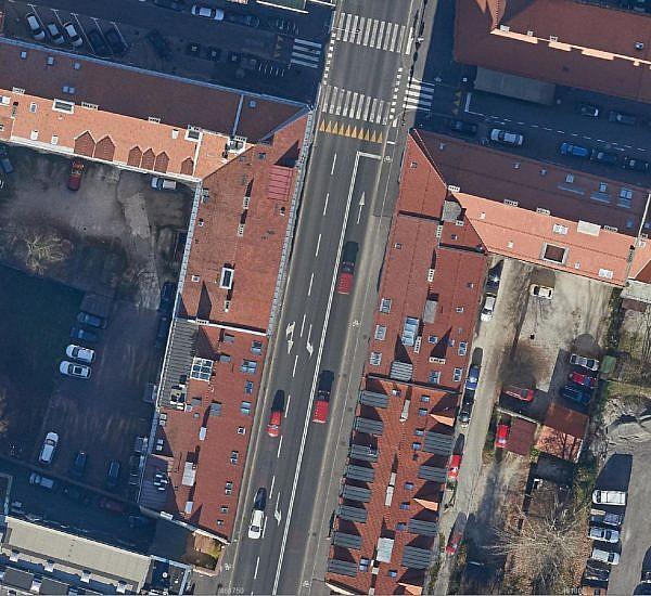 Posodobitev ortofoto mozaika za območje obnovljene Slovenske ceste v Ljubljani