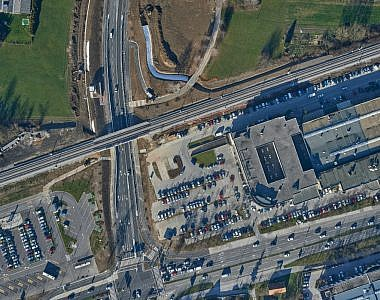 Updated orthophoto mosaic for the area of the new traffic link in the Ljubljana Vič district community
