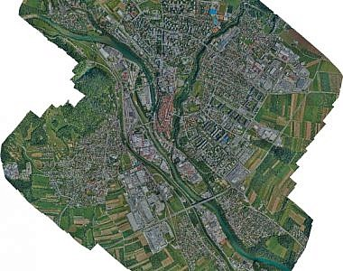 Updating the raster layer of the Kranj municipality spatial information system