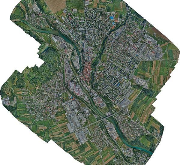 Posodobitev rastrskega sloja prostorskega informacijskega sistema mestne občine Kranj
