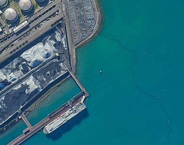 Aerial survey and production the orthophoto mosaic of the Port of Koper