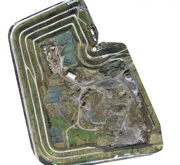 Photogrammetric measuring of landfill cells at the Barje landfill