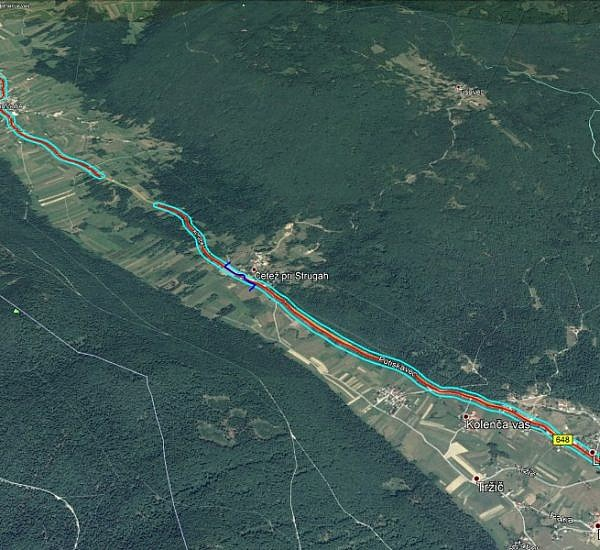 Taking aerial photos and creating an orthophoto plan of the Kompolje – Pri Cerkvi-Struge road
