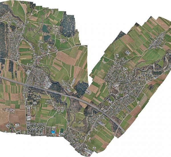 New orthophoto maps for updating the raster layer of the Kranj municipality spatial information system